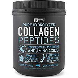 Premium Collagen Peptides Powder | Grass-Fed, Certified Paleo Friendly, Non-Gmo and Gluten Free - Unflavored and Easy to Mix (16oz Bottle)