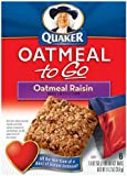 Quaker Oatmeal To Go Oatmeal Raisin Squares, 6-Count Boxes (Pack of 6)