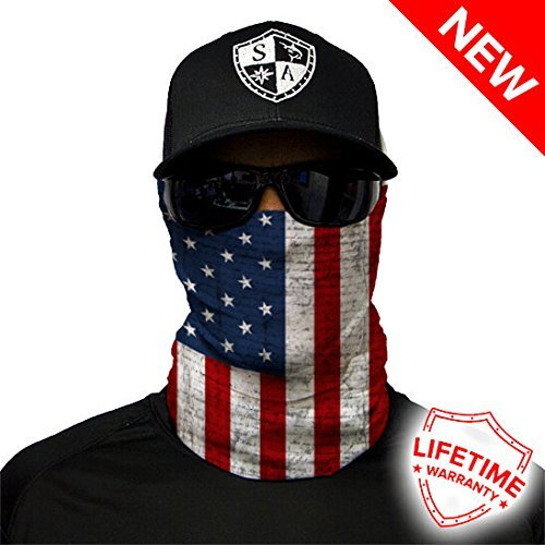 Salt Armour Shield American Flag Face Shield Mask Hunting Fishing Outdoor by Unknown