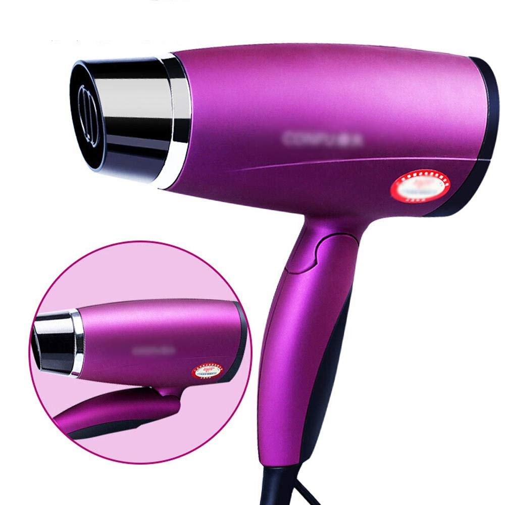 Folding Hair Dryer, Travel Hair Dryer,1800W Power, Fast Dry Hair, Folding and Portable, Saving Space for Home by LSJTY