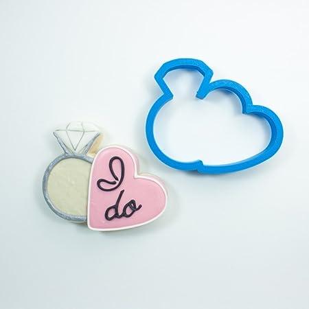 Esmerilado de galletas, anillo de diamante con forma de corazón ...