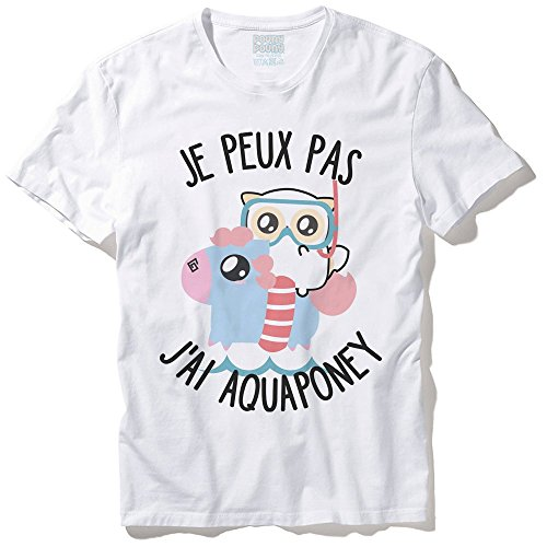 T-Shirt Mixte Pouny Pouny Je peux pas jai aquaponey pastel, chibi et kawaii - Made in France - Licence officielle Pouny Pouny - Chamalow shop