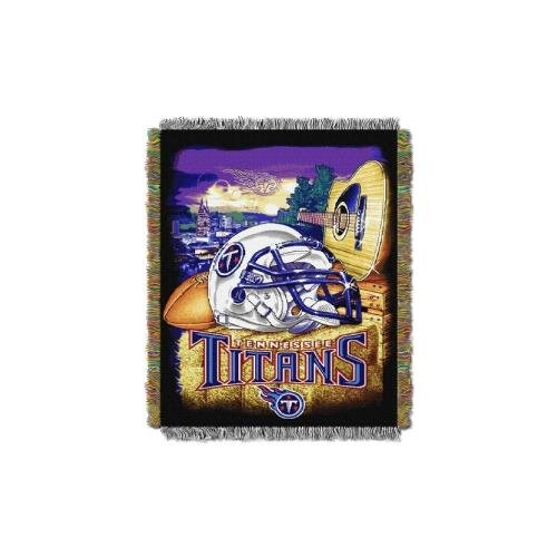 The Northwest Company Tennessee Titans NFL Woven Tapestry Throw (Home Field Advantage) (48x60) (2-Pack)