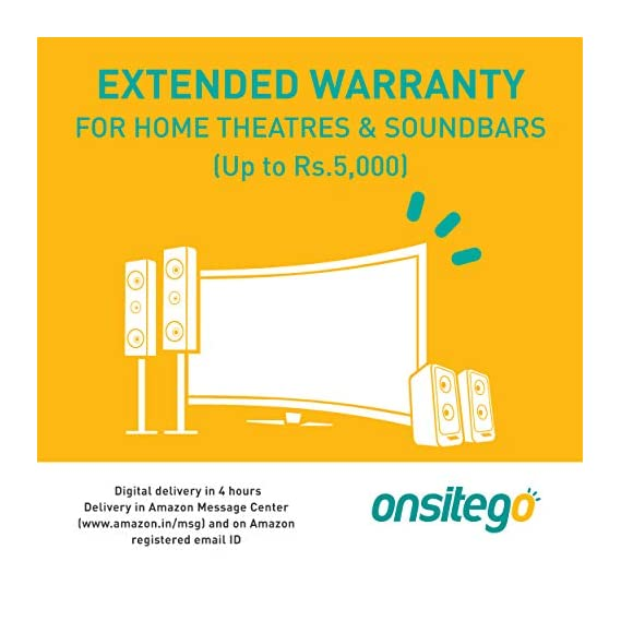 ONSITEGO 1 Year Extended Warranty for Home Theatres and Soundbar