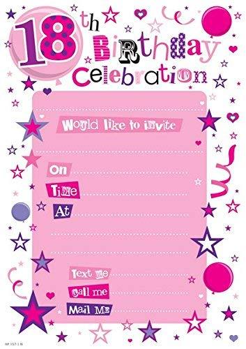 SE - Lista de invitación diseño fiesta 18 cumpleaños (13.3 x ...