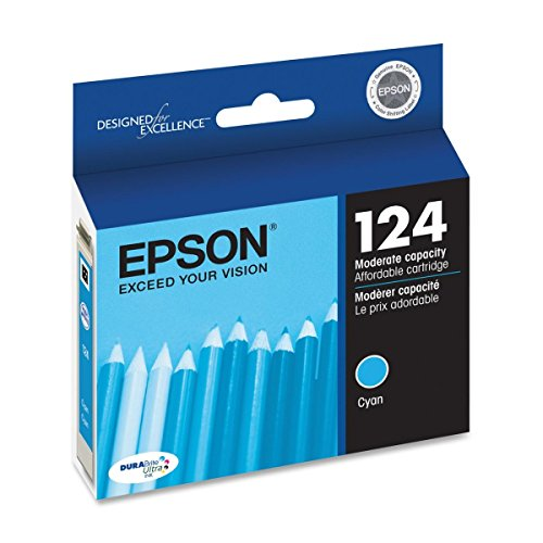Epson 124 OEM Ink Cartridge: Cyan T124220