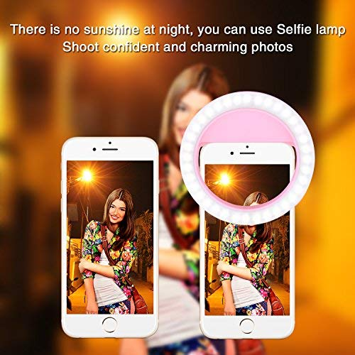 Selfie Ring Light, Selfie Light Ring Brightness Rechargeable Selfie Lighting Ring for iPhone Samsung Galaxy by umsky (Image #5)