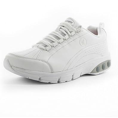 Therafit Shoe Women's Kathy Slip Resistant Leather Athletic Shoe 6 White