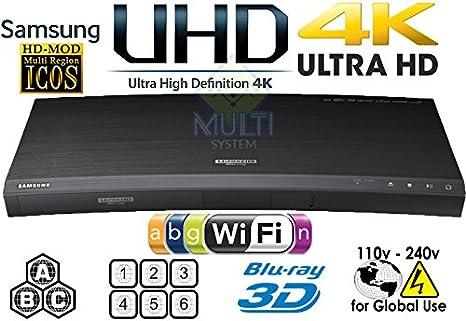 Samsung K8500 UHD – 2d/3d – Wi-Fi – Dual HDMI – 2 K/4 K – Región Libre reproductor de BLU RAY Disc DVD – PAL/NTSC – USB – 100 – 240 V