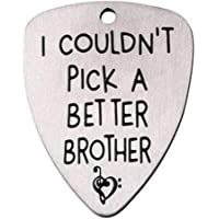 Jude Jewelers Stainless Steel Guitar Pick Necklace Pendant Key Ring