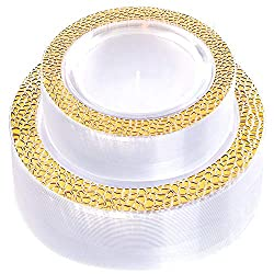 Hammered Design Crystal Disposable Plastic Plates