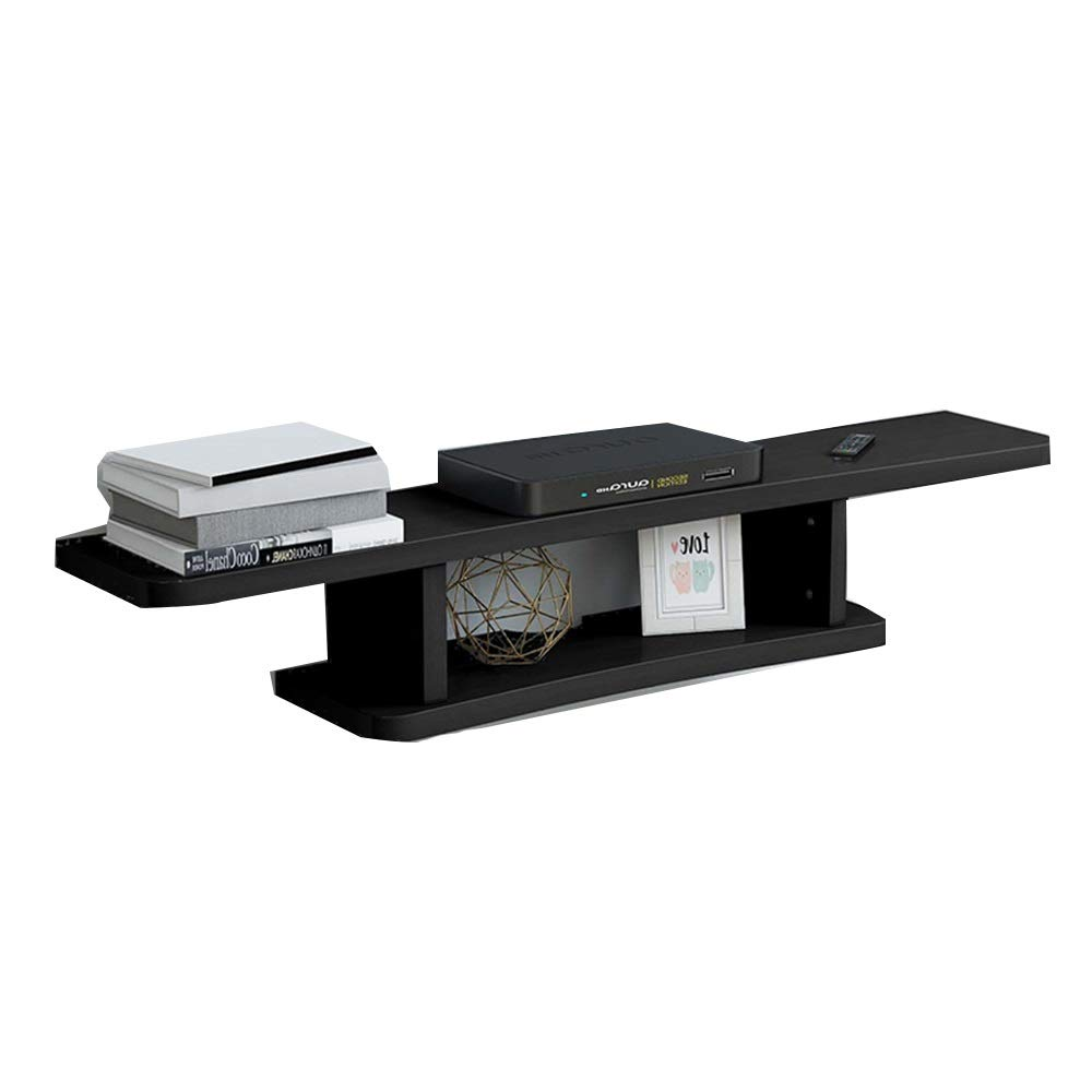 Wall Mounted Media Console,Floating TV Stand Component Shelf, Entertainment Center Unit,4 Colors (Color : Black, Size : 120cm) by Xyanzi -TV Ceiling & Wall Mounts