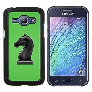 """Be-Star Único Patrón Plástico Duro Fundas Cover Cubre Hard Case Cover Para Samsung Galaxy J1 / J100 ( La figura del caballo de ajedrez"""" )"""