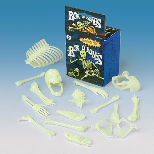 U.S. Toy USTMU75 16 Piece Glow in the Dark Skeleton Box of Bones Action Figure]()