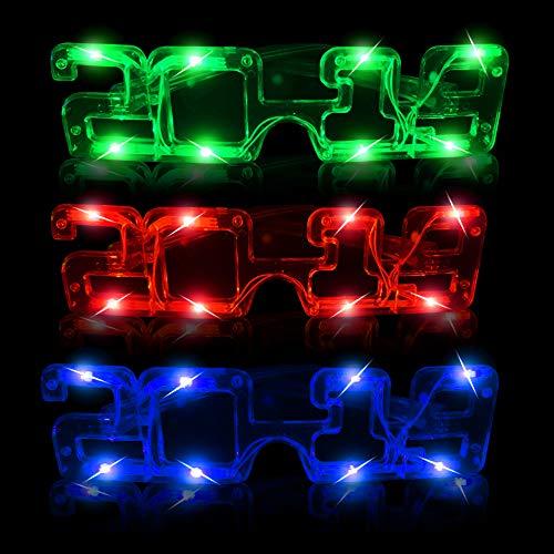 2019 Eyeglasses - Fun Central BD041, 12 Pcs Assorted LED 2019 Eyeglasses, Light Up Party Sunglasses, Glow Eyeglasses, Flashing Fun Eyeglasses Year, Graduation, Birthday