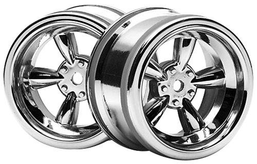 HPI Racing 3822 Vintage 5 Spoke Wheel, 31mm/6mm Offset, Shiny Chrome ()