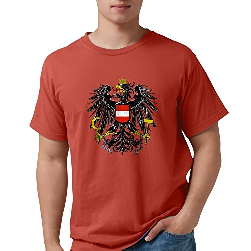 CafePress - Austria Coat Of Arms T-Shirt - Mens Comfort Colors (Austria Coat Of Arms)