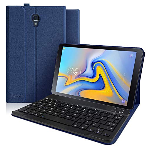 Keyboard Case for Samsung Galaxy Tab A 10.5 2018 Model SM-T590/T595/T597 Detachable Wireless Bluetooth Keyboard Slim Multiple Angle Stand Case for Galaxy 2018 10.5 Inch Tab A (Dark Blue)