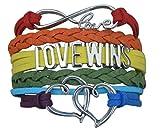 Best Leather Bracelets For Gay Lesbians - LGBT Bracelet, Love Wins Bracelet- Lesbian Pride Jewelry Review