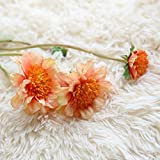 Adarl 10pcs Artificial Flower Fake Silk Flower Windmills Dutch Daisy Bouquet For Home Office Decor Party Festival Wedding Decoration Papaya Orange
