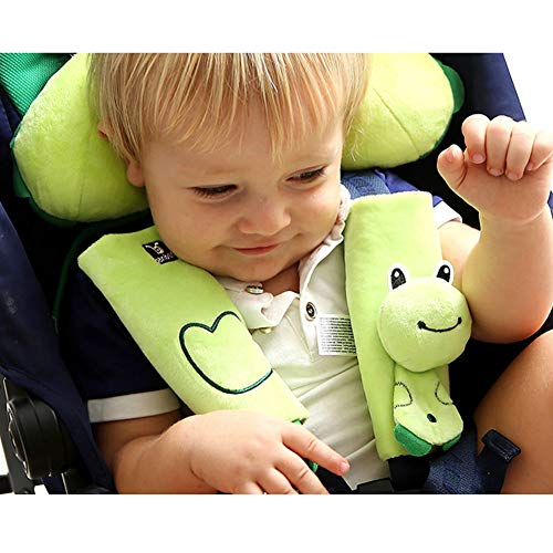 Adjustable Infants and Baby Sleep Neck Relief ZYCC Carseat Head Neck Support Set Offers Protection for Kids U-Shape Stroller Head Support Sleep Holder Belt