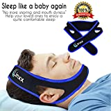 Anti Snoring Chin Strap for Snoring Reduction, Premium Quality for Maximum Comfort, 2018 New Design by Linxx