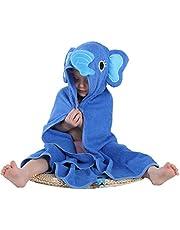MICHLEY Animal Face Hooded Baby Towel Cotton Bathrobe Boys Girls 0-6 Year