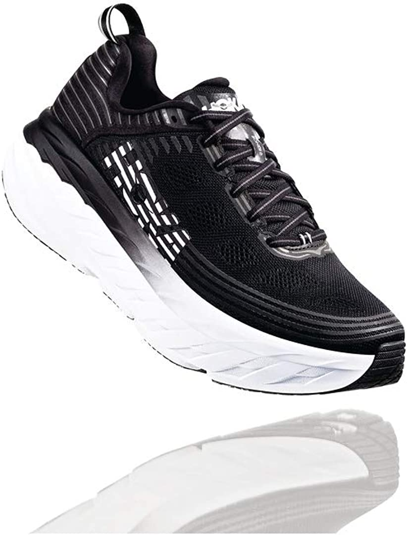 HOKA ONE ONE Bondi 6 Men s Running Shoes Black White 1019269-BLK Size 10.5