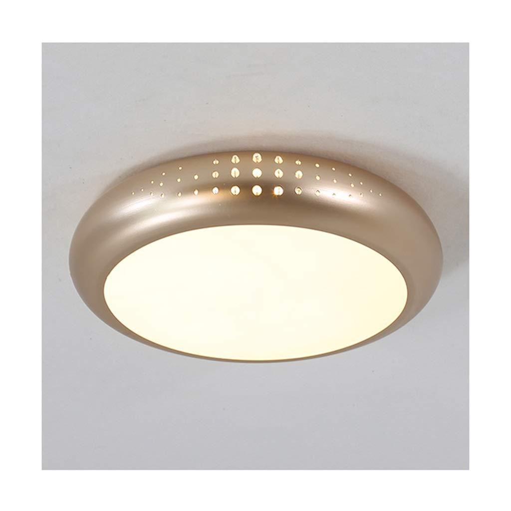 天井照明 シーリングライトモダンシンプル、LED錬鉄製アクリルゴールド、リビングルームのインテリア寝室研究バルコニー廊下ホテルのオフィス天井ランプ シーリングライト (色 : 三色の調光, サイズ さいず : 45*7cm/28w) 45*7cm/28w 三色の調光 B07S794MQW