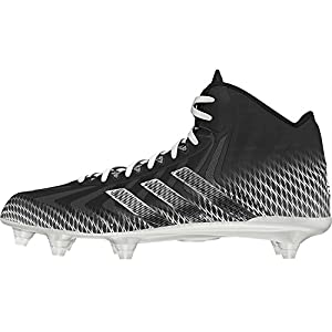 adidas Crazyquick Mid Football Cleats (Black/White - Size 11.5)