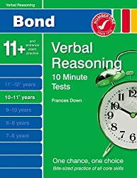 New Bond 10 Minute Tests Verbal Reasoning 10-11+ Years