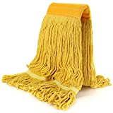 Replacement Mop Head Refill Hand Free Easy Wring Mop Head Heavy Duty Looped-End