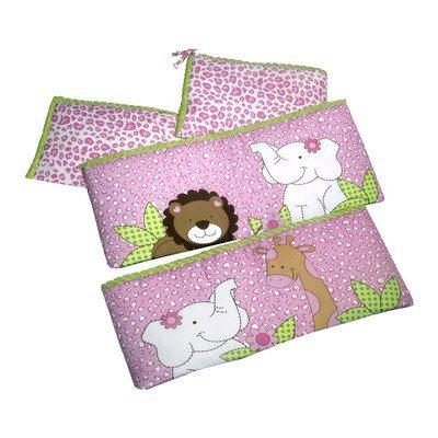 Laugh Giggle & Smile Sassy Jungle Friends 4 Piece Bumper Pad (Giggles 4 Piece Crib Bedding Set)