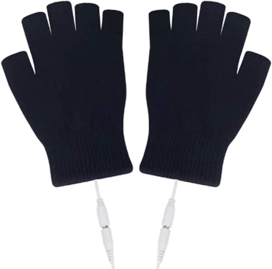 Hanpmy Gants complets et Demi-Doigts Gants Chauffants USB 1pair 5v Mitaines Chaudes en Tricot Unisexe