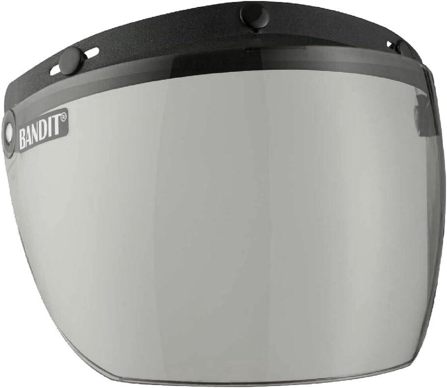 fonction grille l/ég/ère diff/érentes couleurs Bandit Helmets Visi/ère rabattable pour casque jet /à boutons Smoke 2.