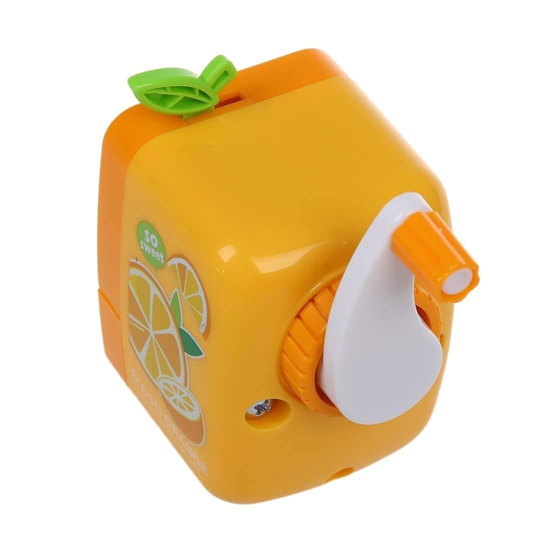 Cestval Orange Pattern Pencil Sharpener Plastic Manual Sharpener Novelty Kids Stationery School Office Supplies