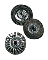 "United Abrasives- SAIT 06426 4"" x .014 x 5/8-11 Arbor Carbon Bristle Regular Twist Knot & Crimped Style Angle Grinder Wire Wheel"