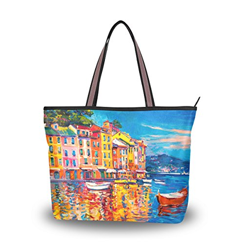 Sea Alaza Épaule Main Fourre tout Bateau Grand À Maison L'huile Sac Italie Peinture WgnW40