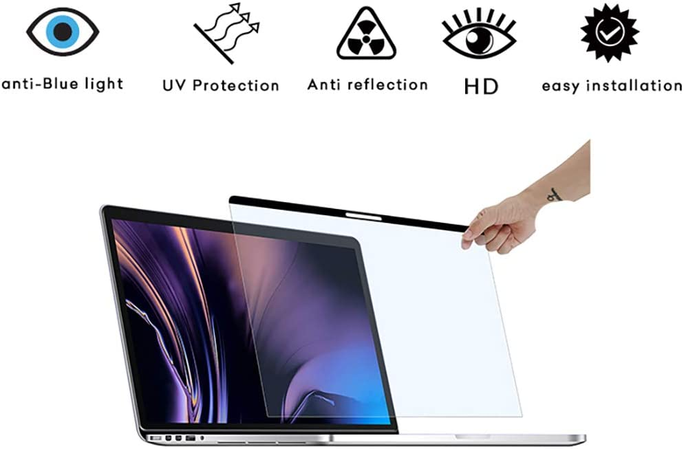 Magnetic Blue Light Blocking Screen Protector and Anti Blue Light Filter,Compatible with MacBook Pro 15 Inch (2012, 2013, 2014, 2015) | Eye Protection for A1398 Models ONLY