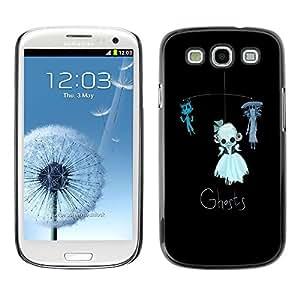 """For SAMSUNG Galaxy S3 III / i9300 / i747 Case , Fantasmas divertido de los niños del juguete Gato Negro"""" - Diseño Patrón Teléfono Caso Cubierta Case Bumper Duro Protección Case Cover Funda"""