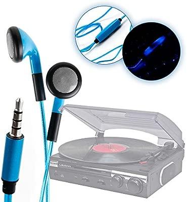 DURAGADGET Auriculares In-Ear Con Luz LED Azul Para ...