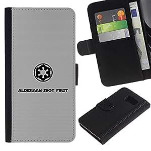 Stuss Case / Funda Carcasa PU de Cuero - Alderaan tiró primero - Sony Xperia Z3 Compact