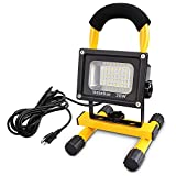 Ustellar 1600LM 20W LED Work Light (150W Equivalent), Waterproof LED Flood Lights, 16ft/5M Wire with Plug, Stand Industrial Working Light for Workshop, Construction Site, 6000K Daylight White