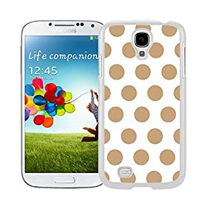 Special Samsung Galaxy S4 Case Polka Dot White and Brown Speck Mobile Phone White Cover