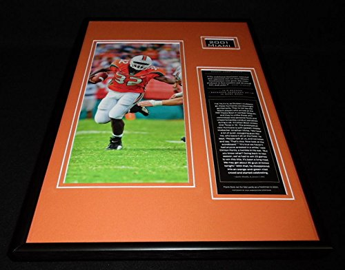 2001 Miami Hurricanes Football Team Framed 12x18 Photo Display Frank Gore - 2001 Miami Hurricanes Football