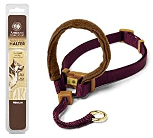 Petmate 5/8-Inch by 14-20-Inch Small AKC Padded Dog Halter, Burgundy