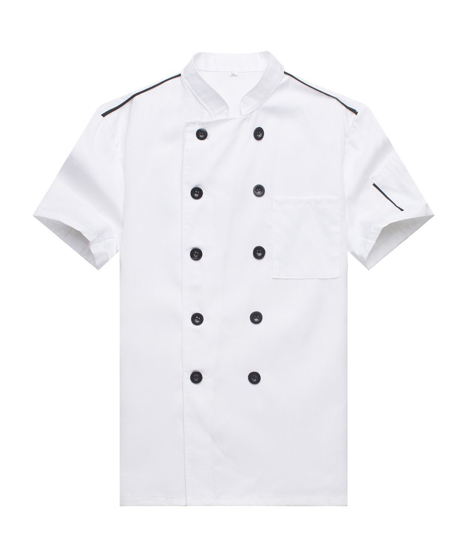 WAIWAIZUI Chef Jackets Waiter Coat Short Sleeves Many Colors