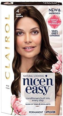 Nice N Easy Tinte de pelo natural color marrón oscuro 4 ...