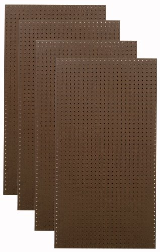 Tempered Wood Pegboard TPB-4BR 24-Inch W x 48-Inch H x 1/4-Inch D Heavy Duty Commercial Grade Round Hole Pegboards, Brown (Leg Peg Hook)