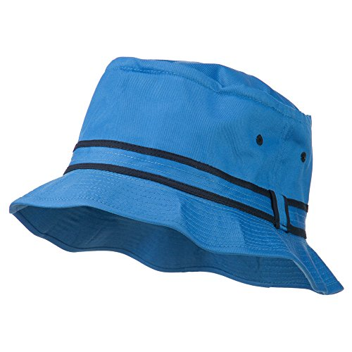 OTTO Striped Hat Band Fisherman Bucket Hat - Blue Navy S-M